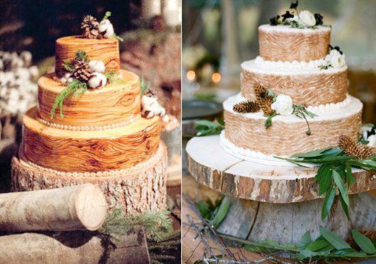 8 Torten Hochzeit Holz Piniennuss Vintage Rustikale Hochzeit