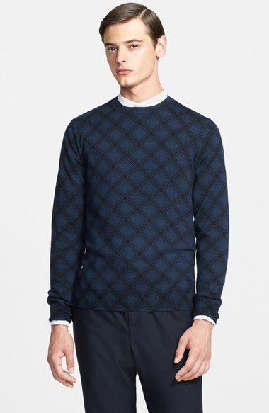 Men's A.P.C. 'Remy Jumper' Diamond Print Wool Crewneck Sweater
