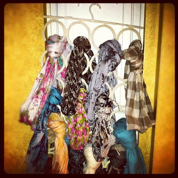 Kristen's scarf holder