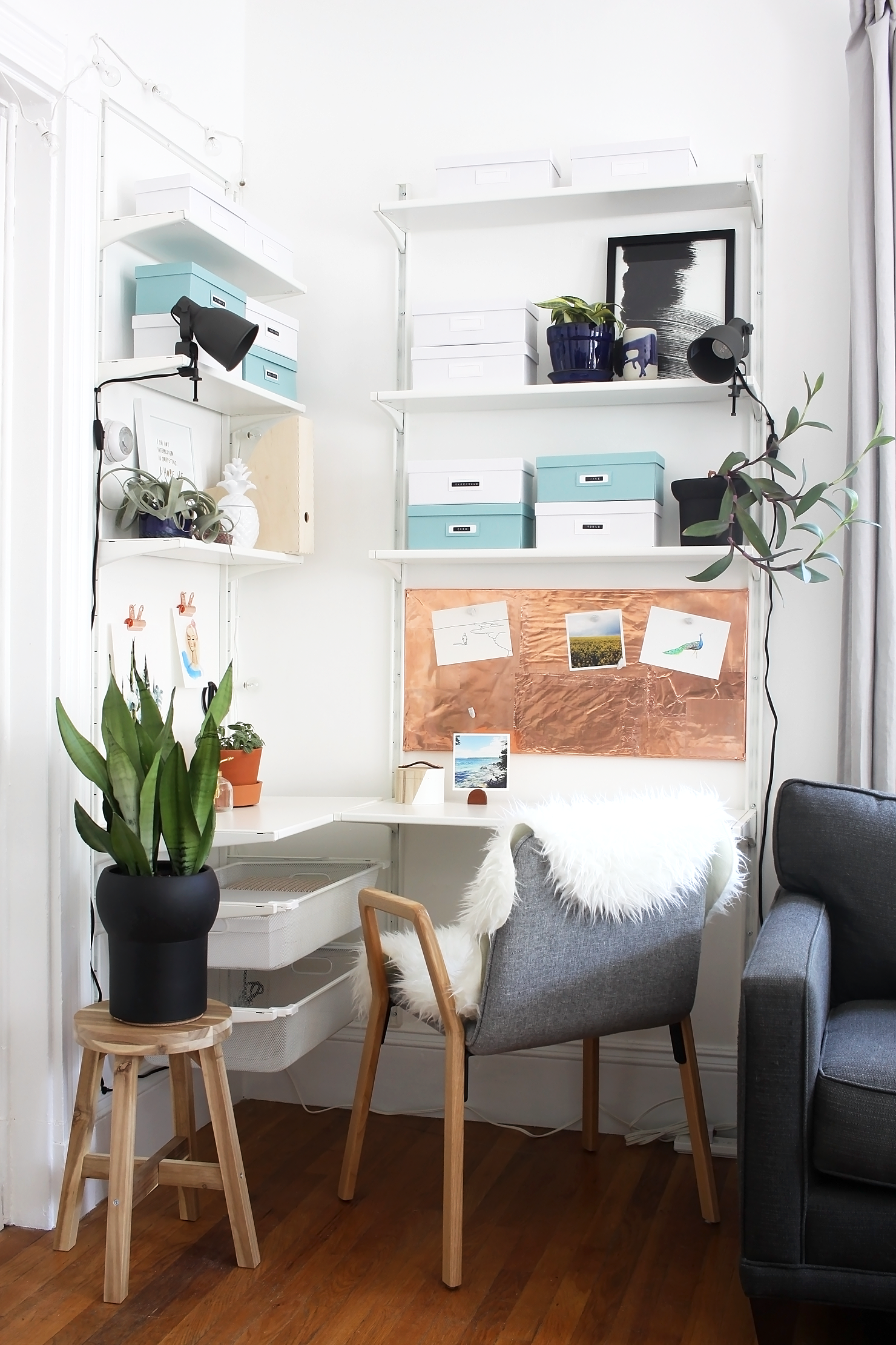 Scandinavian Workspace Makeover -- The Reveal | Pinterest | Plant ...