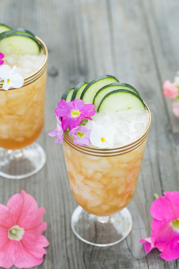 A Refreshing Pimm's Cup Cocktail Recipe with citrus and floral notes. A perfect spring and summer cocktail!!
