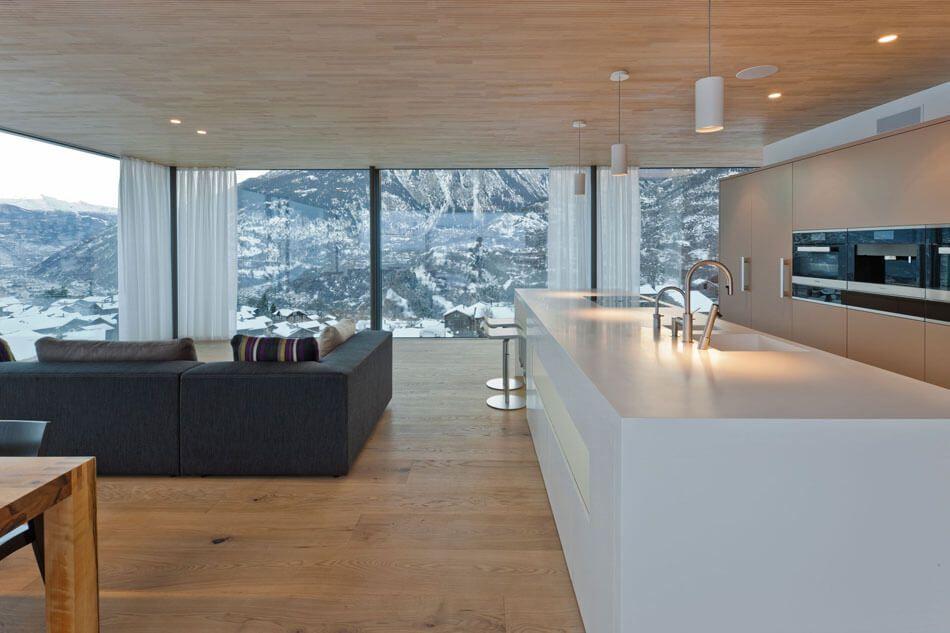 Cuisine et salon dans la même pièce | cuisine | Pinterest | Les ...