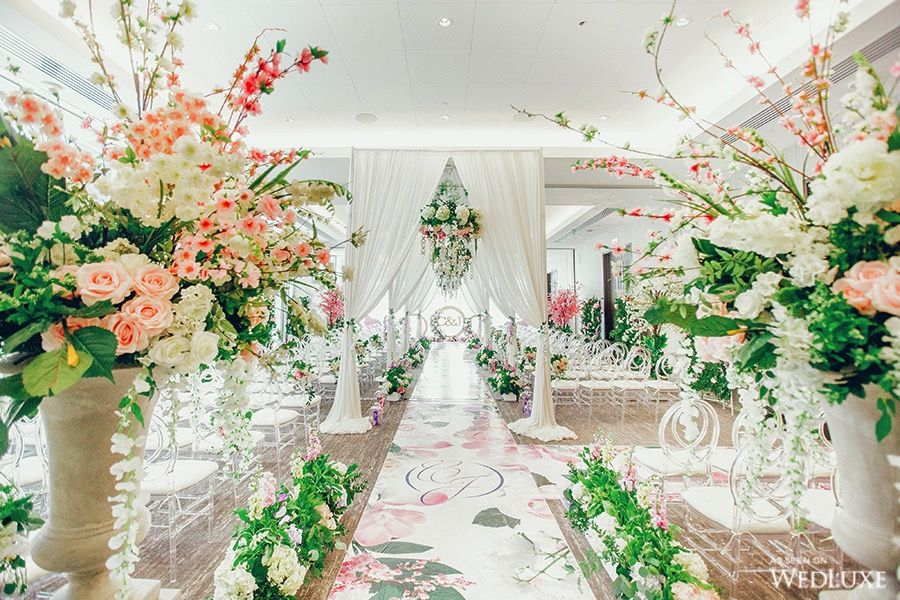 It\'s like an indoor garden party! | WedLuxe #Ceremony #CeremonyDecor ...