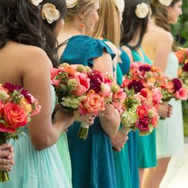 Turquoise and Coral Wedding at The Sam Houston Hotel, TX (JW Baugh Photography). #turquoisecoralweddings