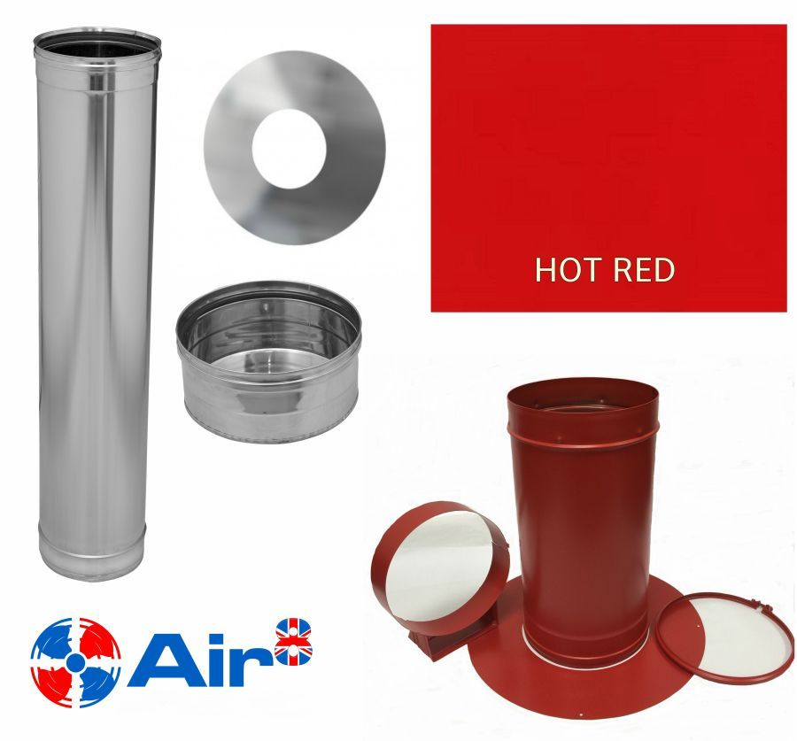 Hot Red Laundry Chute Base Kit 1 250mm For Residential 2 Storey