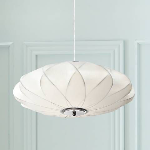 Flower cloud 22 1 2 wide contemporary white pendant 8g381 lamps