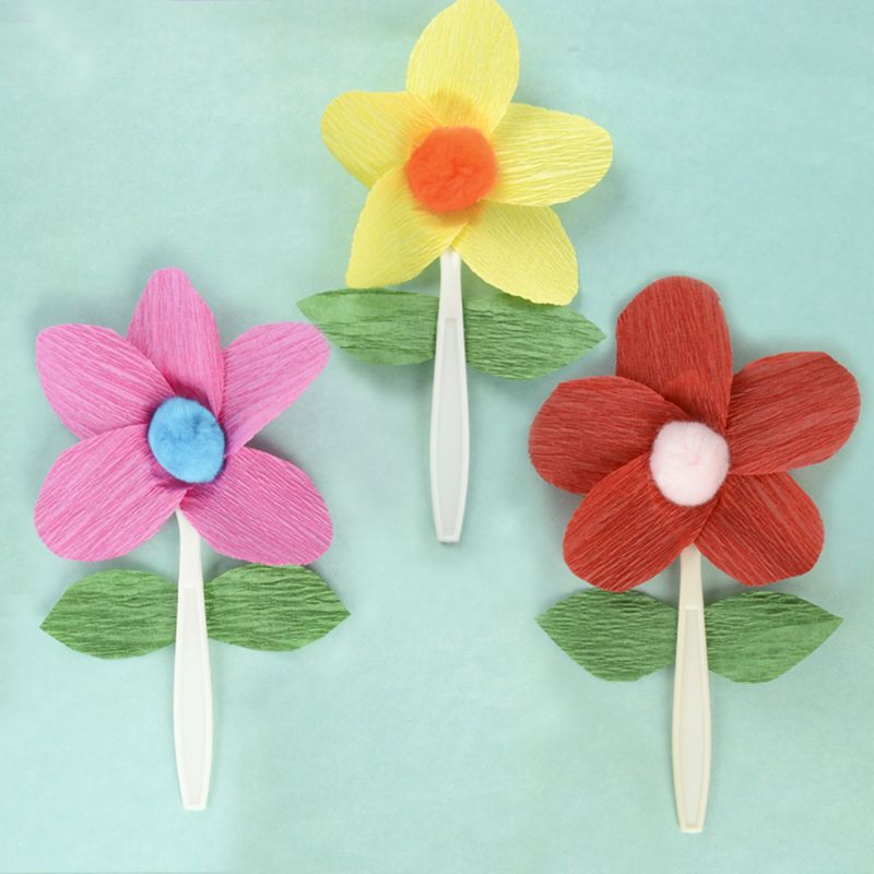 Kid Craft Ideas For Spring Part - 48: Flowers For All Ages - Easy Kids Crafts - Spring Craft Ideas For Your Kid -