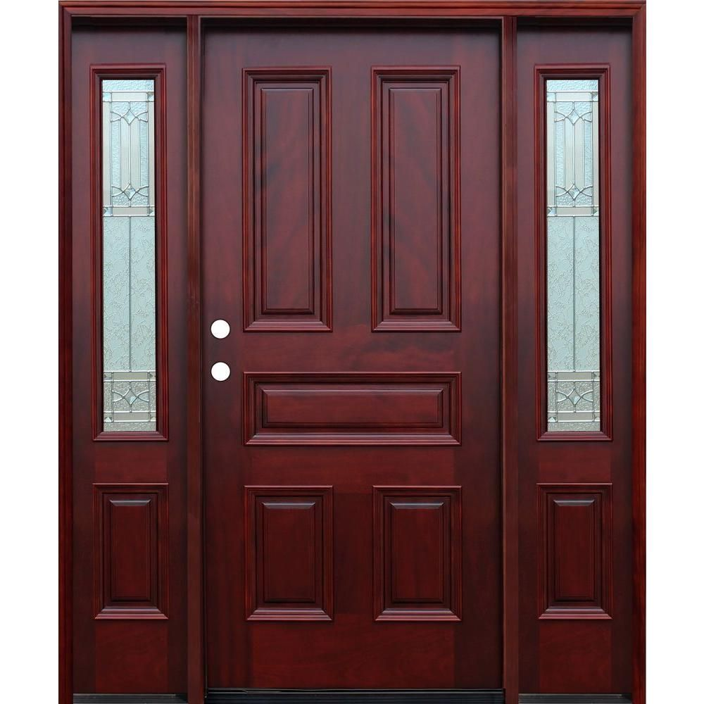6 Panel 30 In X 80 In Unfinished Fir Slab Entry Door Model