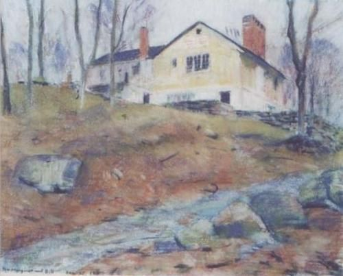 House on the hill pastel 2012 carl schmitt foundation - House on the hill 2012 ...