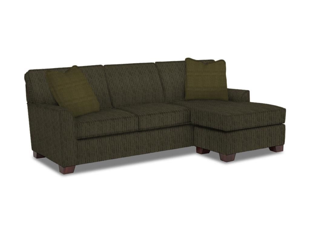 Broyhill living room claridge chaise sofa w ottoman base for Broyhill chaise lounge cushions