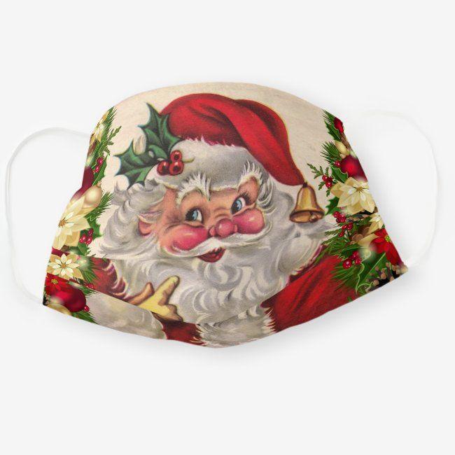 Vintage Santa Wishing You A Merry Christmas Adult