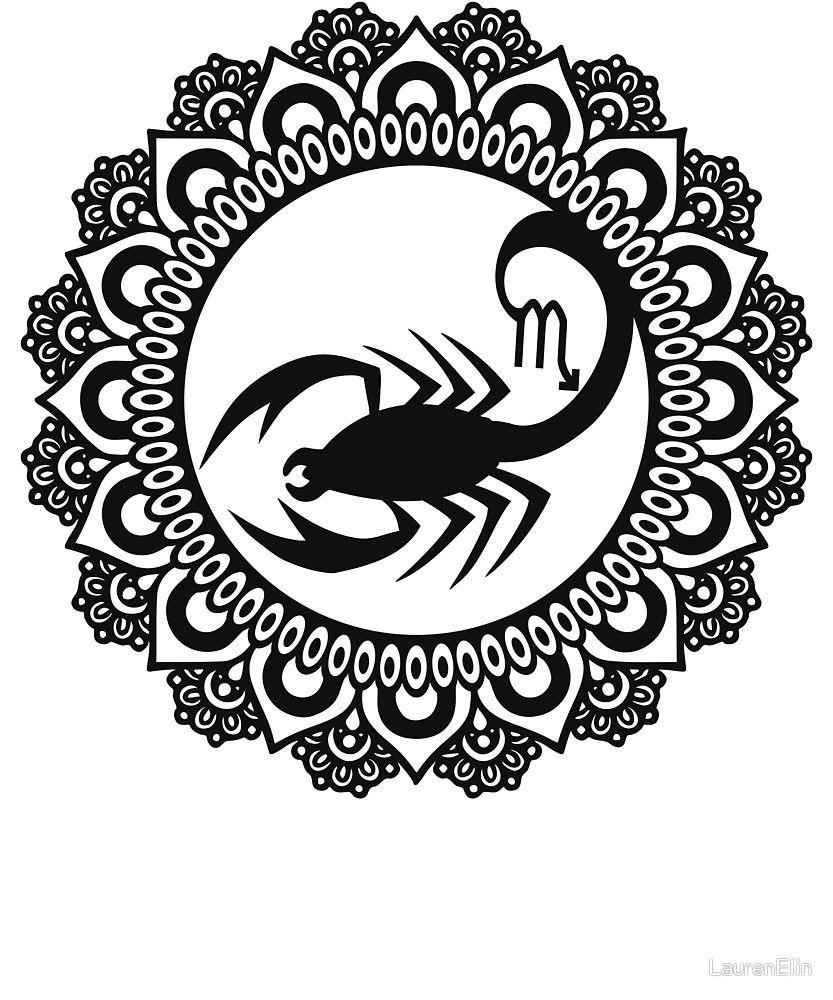 Zodiac Scorpio The Scorpion Mandala By Laurenelin Zodiac Mandala Zodiac Signs Cancer
