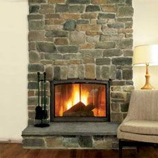 Cobblestone Fireplace how to build a stone-veneer fireplace surround | stone veneer