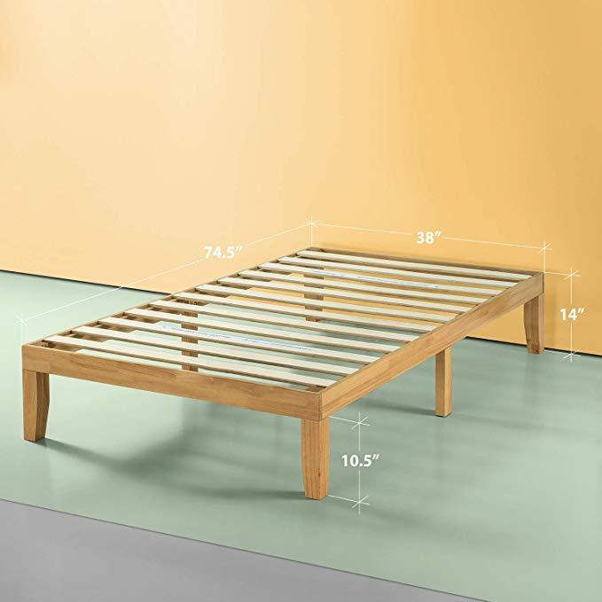 Amazon Com Zinus Moiz 14 Inch Deluxe Wood Platform Bed No Box