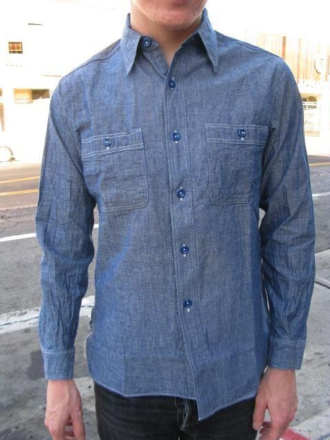 2bb2740b0e buzz rickson. usn indigo chambray  shirt