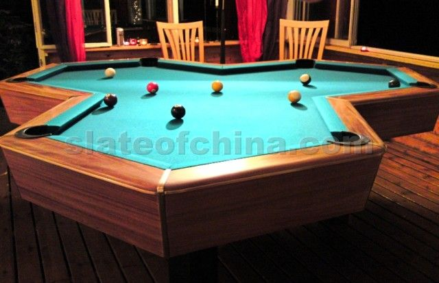 custom pool enclosure hexagon shape. Triljard Pool Tables Table Hexagon Shaped Slates Two | Home Design Custom Enclosure Shape O