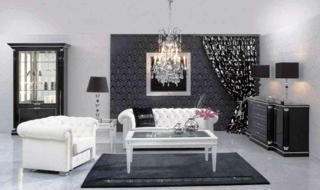 deco salon moderne noir et blanc gris meuble et design meuble nouvel appart pinterest deco deco salon and design - Model Salon Moderne Noiretblanc