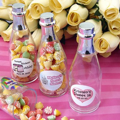 Personalized Sweet 16 Fillable Favor Bottles Per 3653 Sweet16 Wp