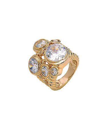 Another great find on #zulily! Cubic Zirconia & Gold Spinning Spheres Ring #zulilyfinds
