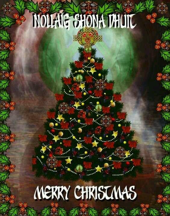 Merry Christmas In Irish.Celtic Christmas Irish Gaelic Irish Christmas Celtic