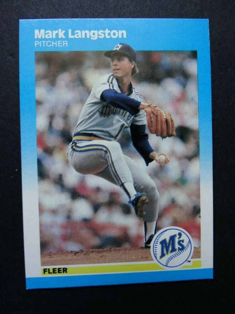 1987 fleer 589 mark langston seattle mariners baseball