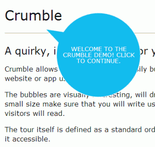 Crumble is a jQuery plugin for a quirky, interactive feature tour