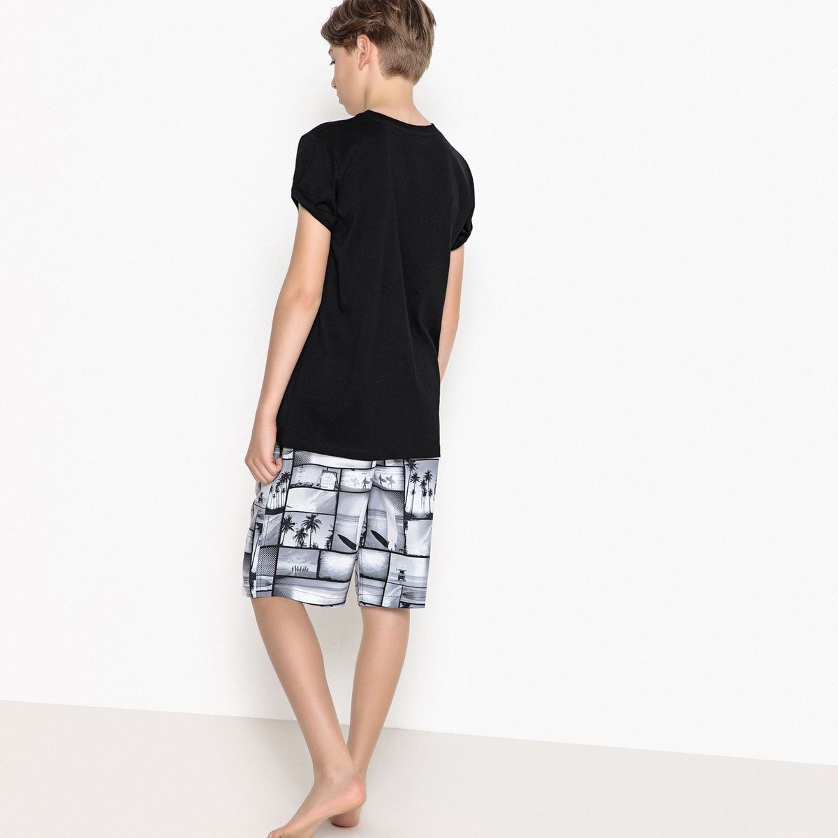 La Redoute Collections Big Boys Printed Swim Shorts 10-16 Years