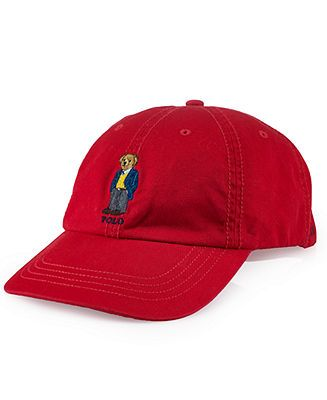Polo Ralph Lauren Hat, Chino Polo Bear Baseball Cap - Hats, Gloves    Scarves - Men - Macy s d47294a256e