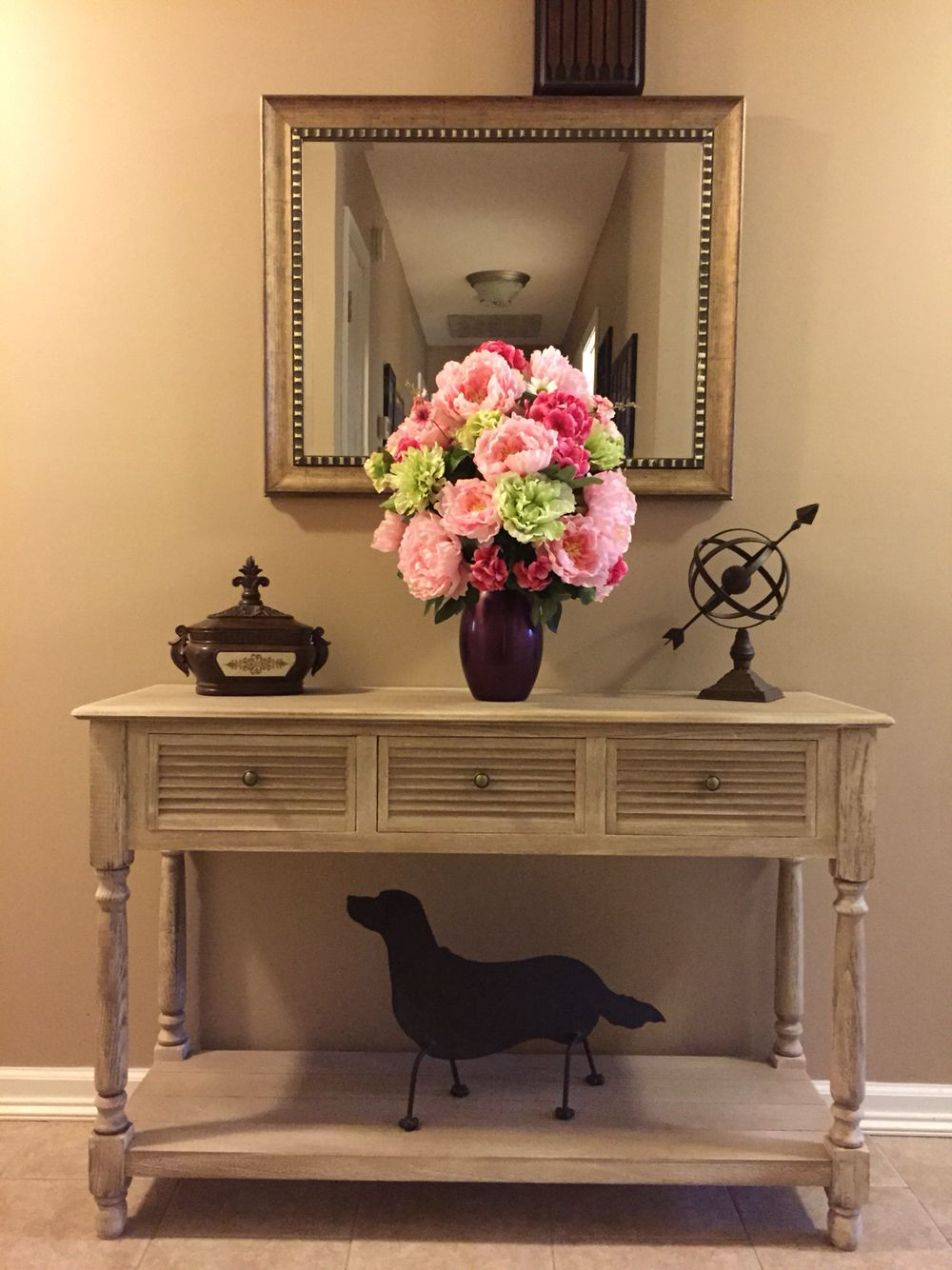 How To Decorate Your Entryway I Bought A Sofa Table From