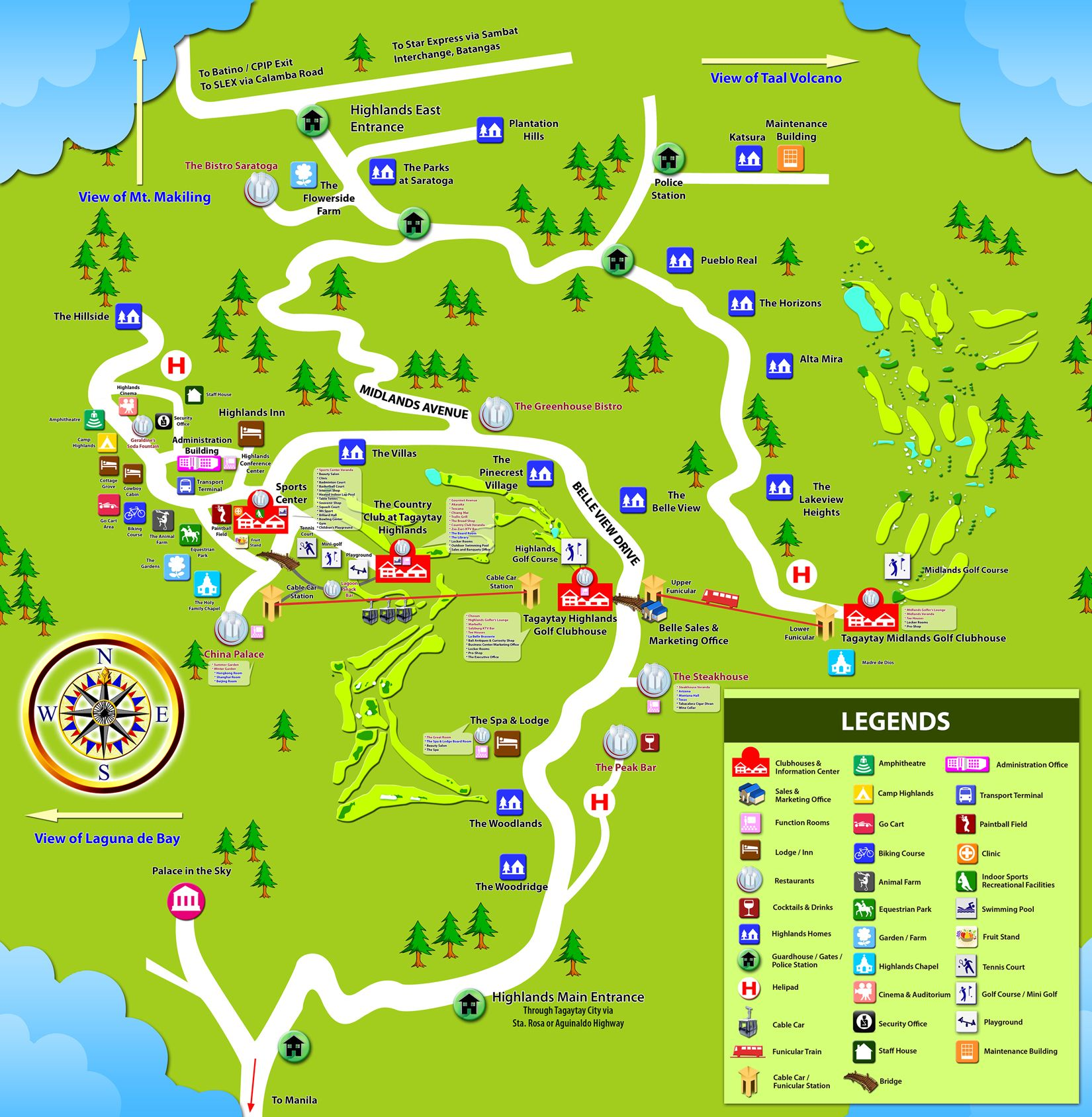 Community Map Tagaytay Highlands Map, Tagaytay, Taal