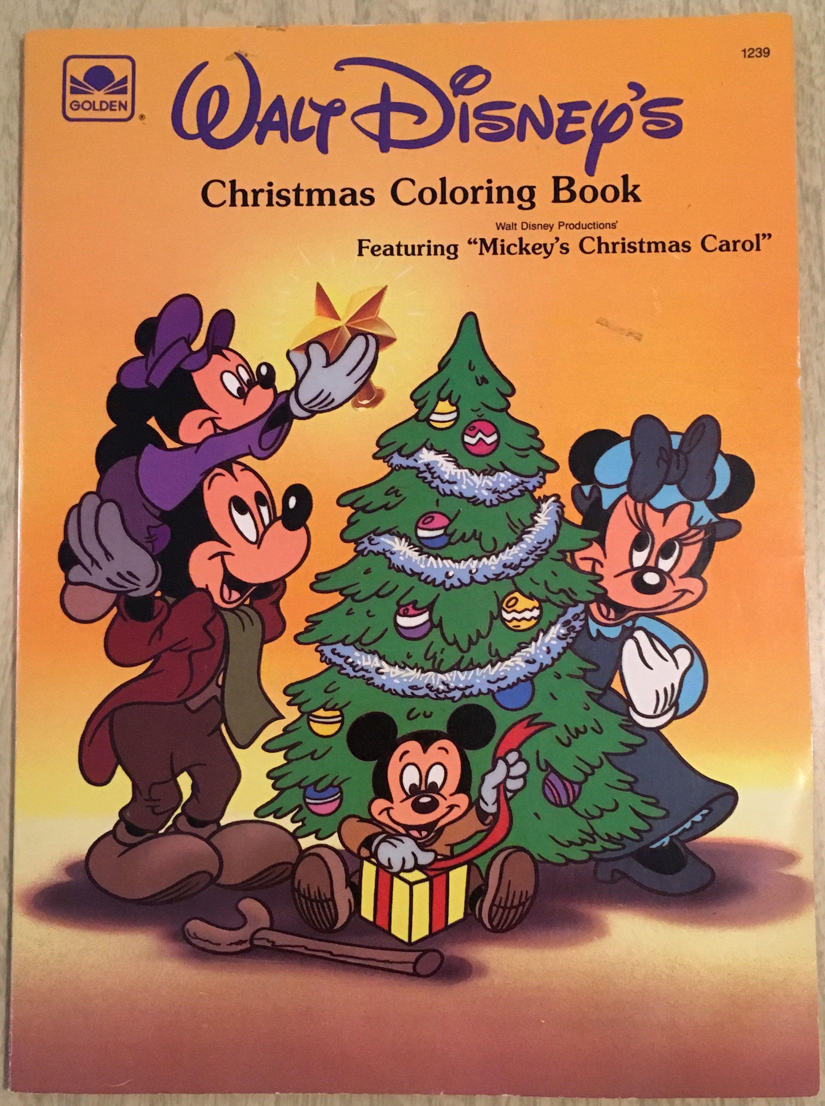 Disney Christmas Carol.Mickey S Christmas Carol Coloring Book Ducktales