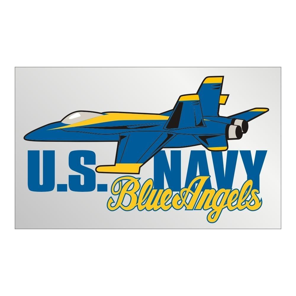 Window Bumper Sticker Military Navy Blue Angels demostration squadron NEW Decal