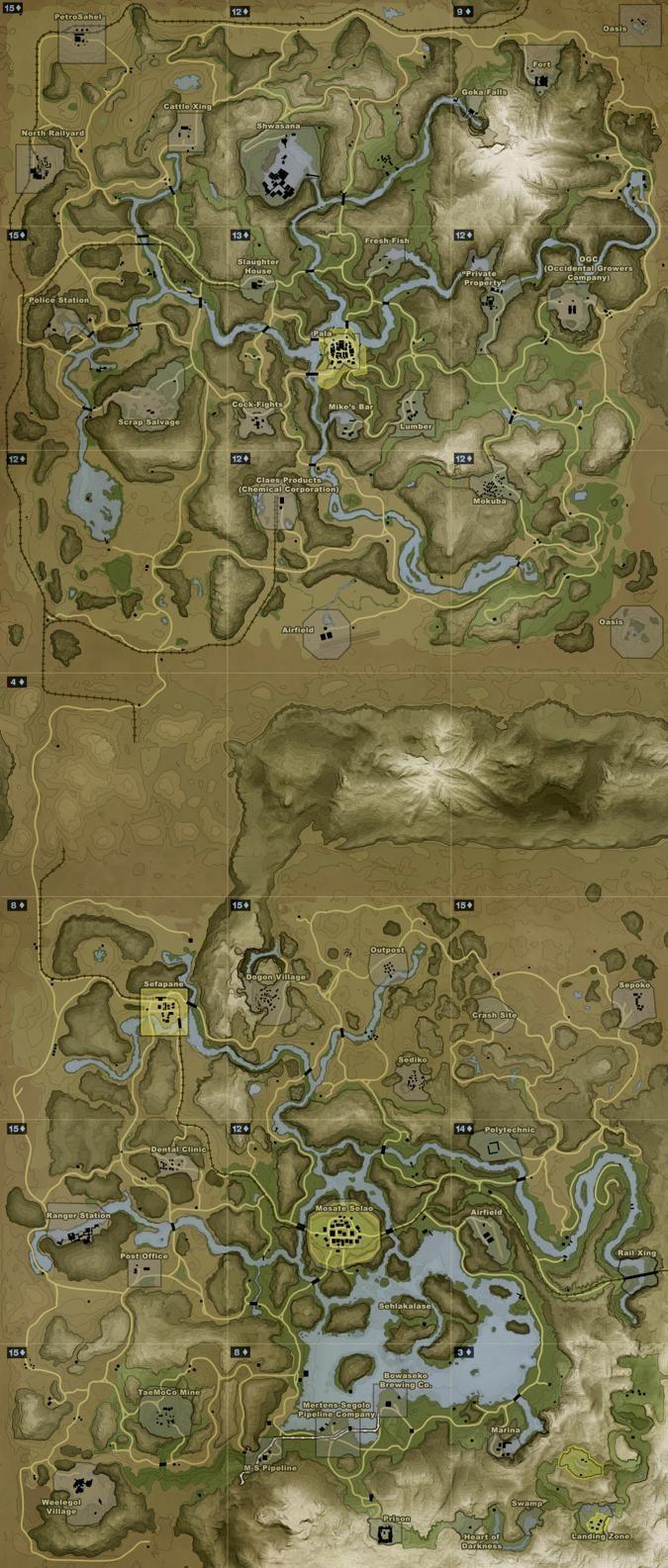 Far Cry 2 Map Ilustraciones