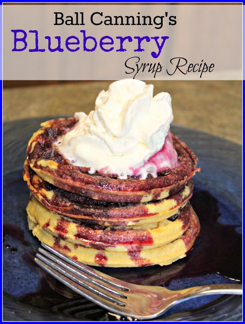 how to make blueberry syrup for canning