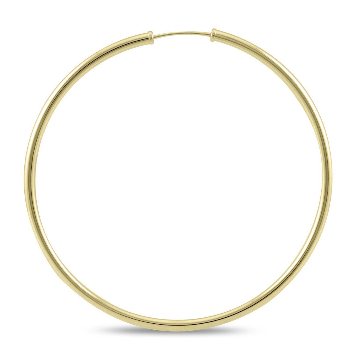 Marquee Jewels 14k Gold 50millimeter Endless Hoop Earrings