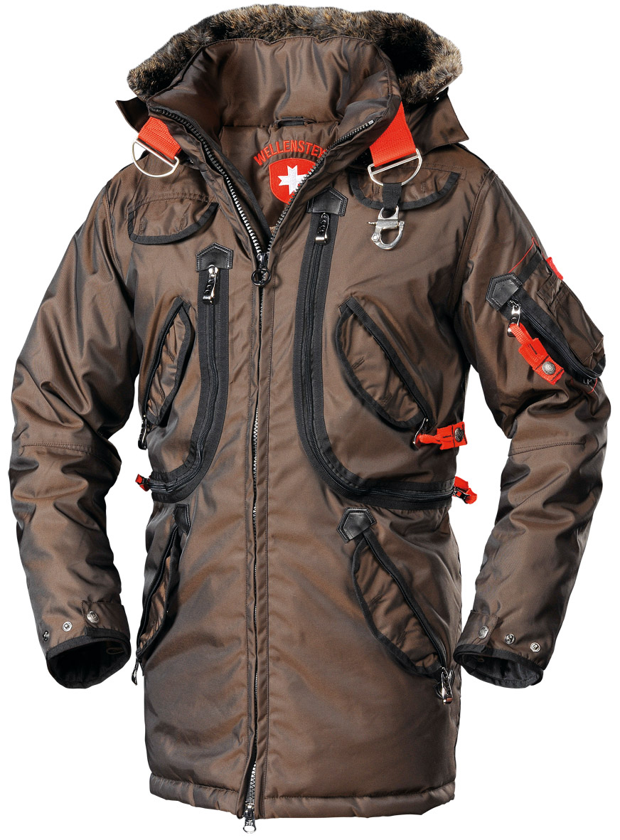 Wellensteyn Rescue Parka Functions Windproof Waterproof Breathable Taped Seams Survival Clothing Outdoor Outfit Tactical Wear [ 1181 x 872 Pixel ]