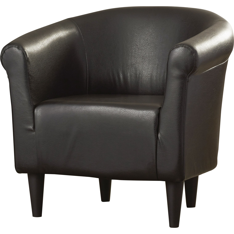 Liam Barrel Chair Leather accent chair, Barrel chair, Chair