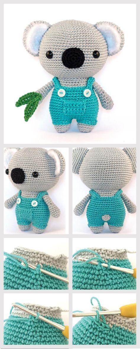 How to Make Amigurumi Koala | tana | Pinterest | Patrones amigurumi ...
