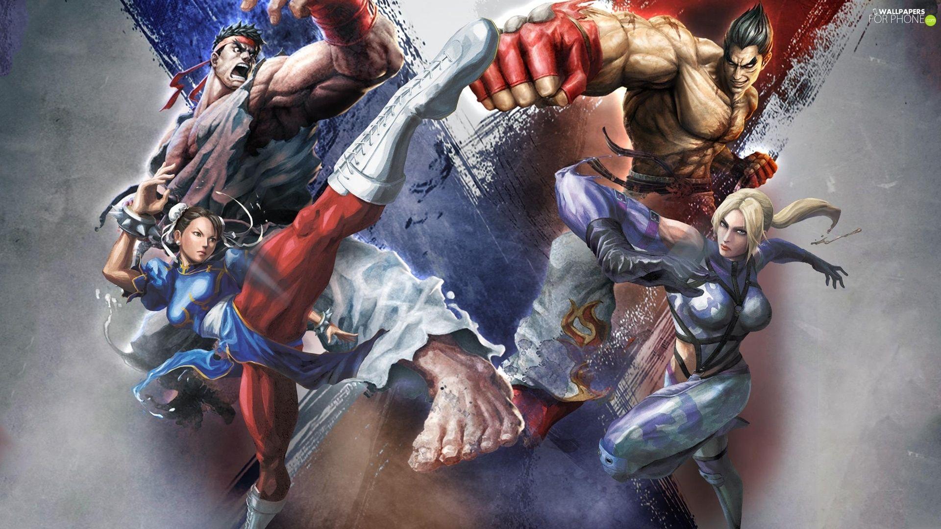 Nina Williams Kazuya Mishima Ryu Chun Li Street Fighter
