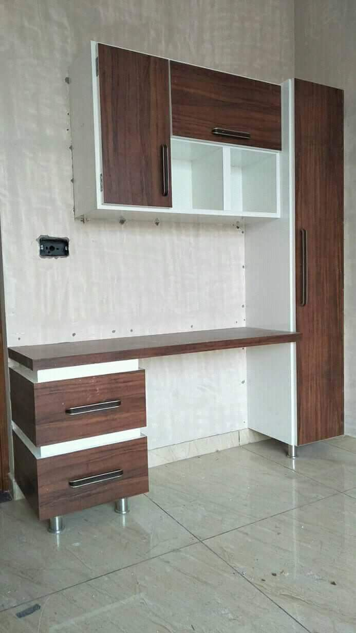 Open Study Room: #study Table Brown And White Combination With Small