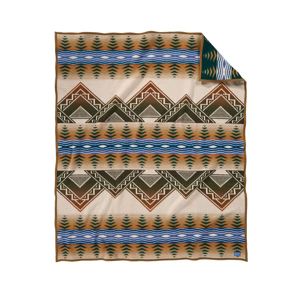 Discover the Pendleton American Treasures Blanket Tan at