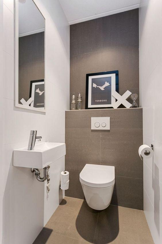 20 Inspirierende Ideen Zur Gestaltung Einer Gastetoilette Dekoideen Dekoideen Einer Gasteto In 2020 Small Toilet Room Small Toilet Design Small Toilet