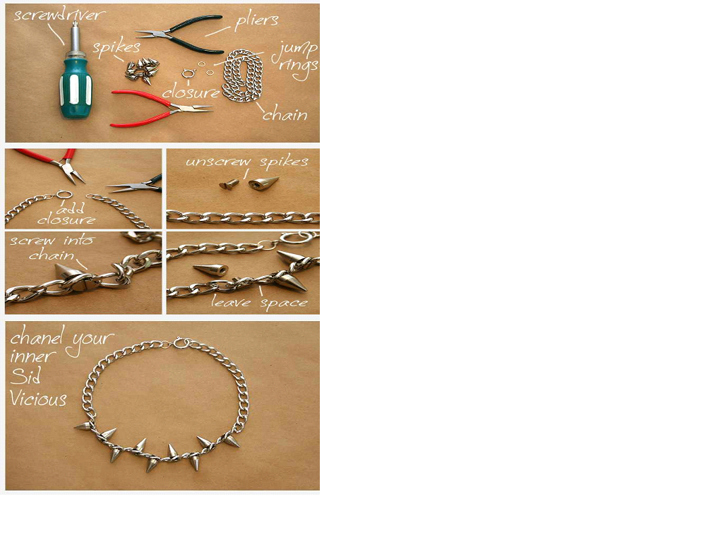 Make your own Spiked Chain Necklace !