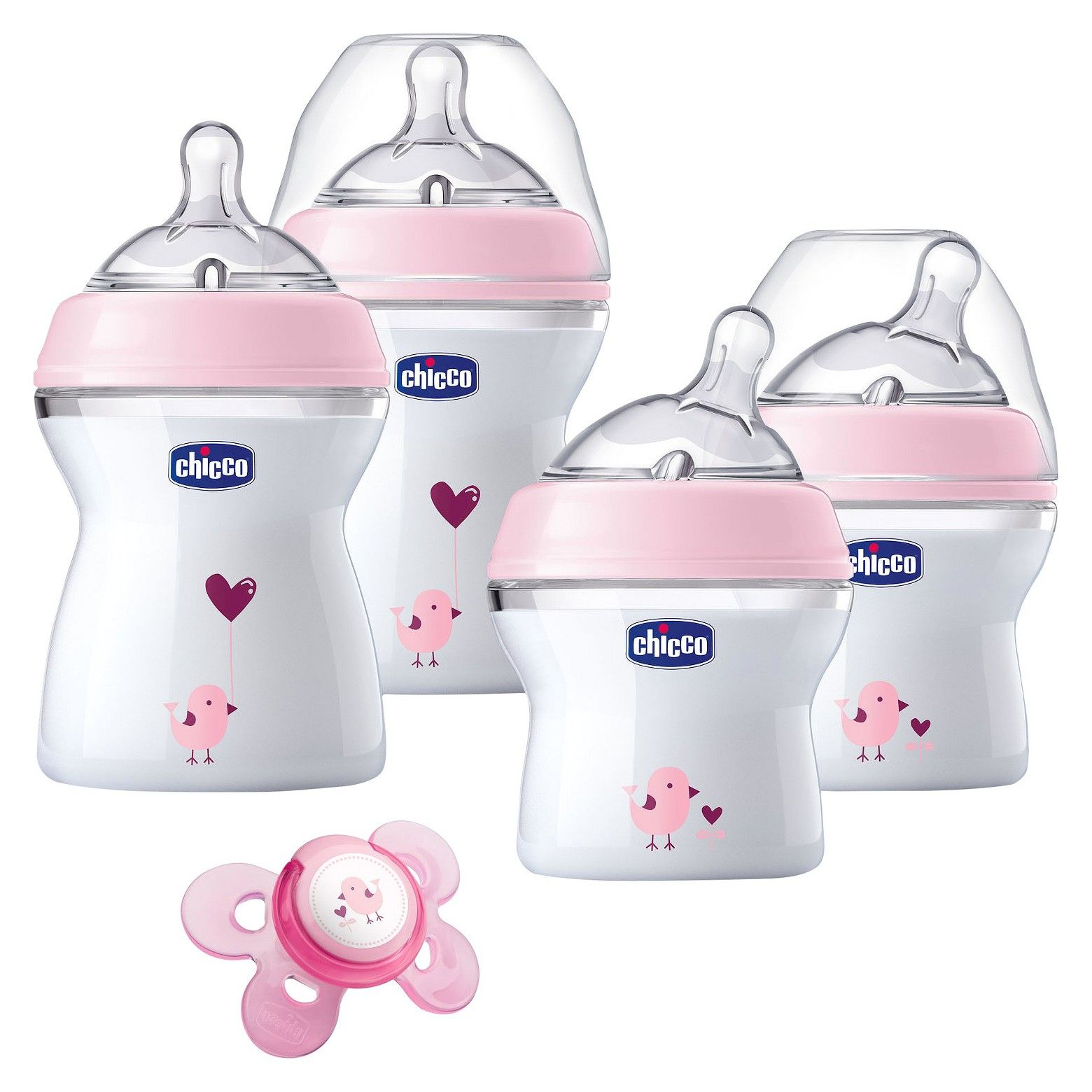 Chicco naturalfit newborn gift set pink with images