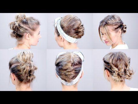 SUPER EASY Short Hairstyles Tutorial | Milabu - YouTube | Stuff to ...
