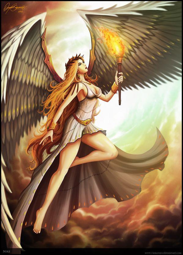 Nike By Serathus On Deviantart Greek And Roman Mythology Mythology Greek Myths