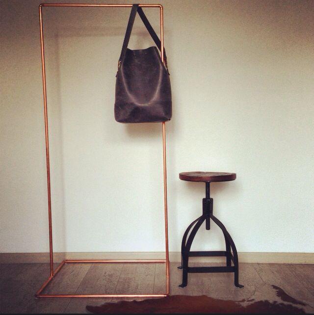 Coper shop display by #AtelierPCR and bag bij #AtelierPCR for more info check: www.AtelierPCR.com