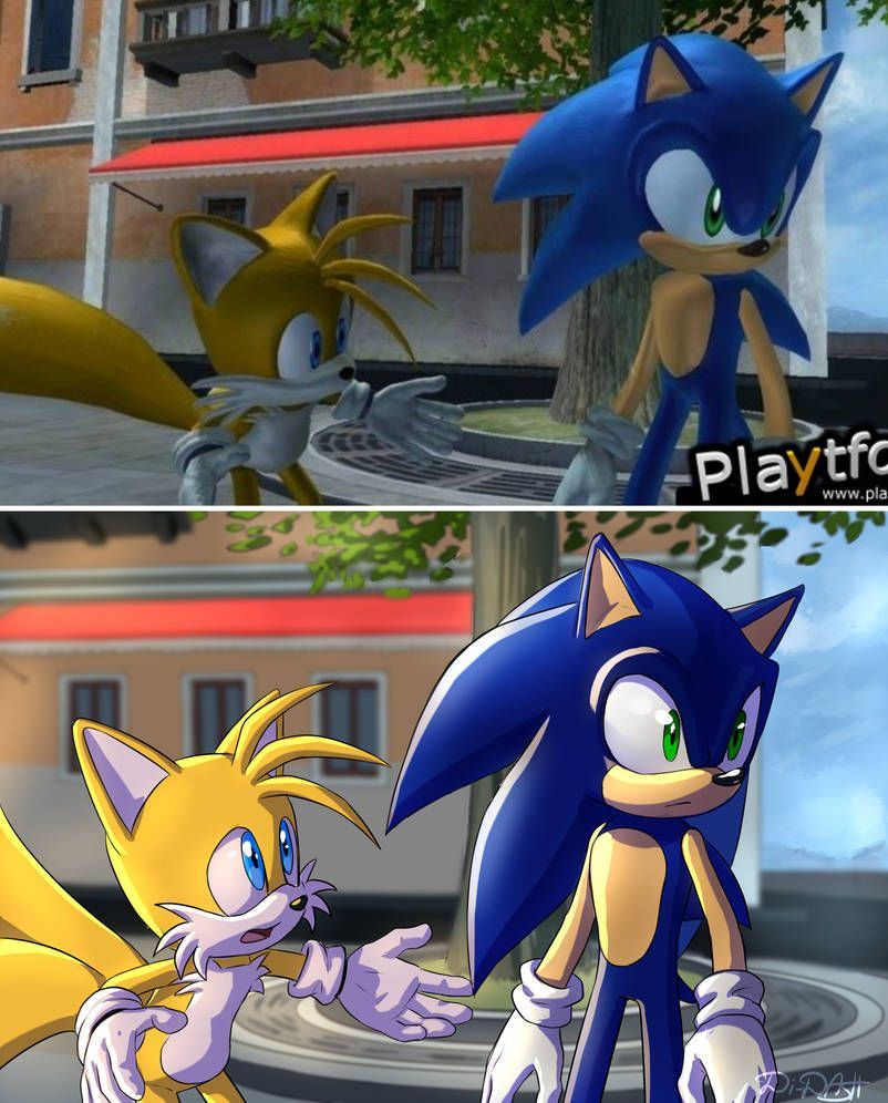 Tails And Sonic 2006 Redraw Sonic Sonic And Shadow Sonic The
