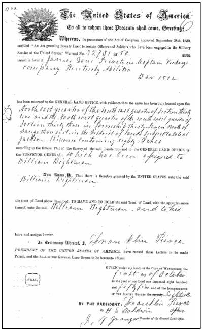 Scrip Warrant Act of 1850