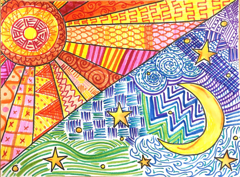 Warm and Cool Skies | Escuela | Pinterest | Cielo, Frío y Plástica